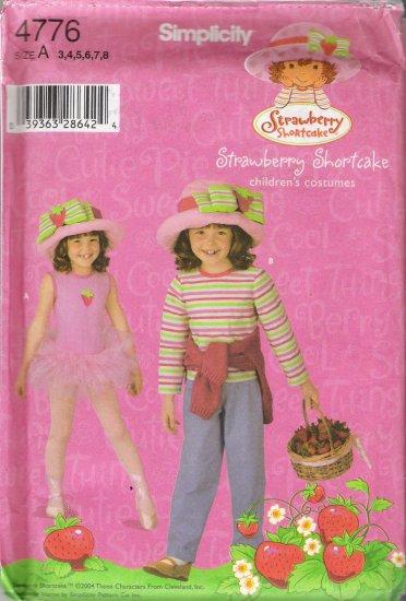 Child's Strawberry Shortcake Costumes Sewing Pattern Size 3-8 Simplicity 4776 UNCUT