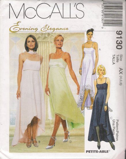 Misses' Lined Dress & Scarf Sewing Pattern Size 4-8 McCall's 9130 UNCUT