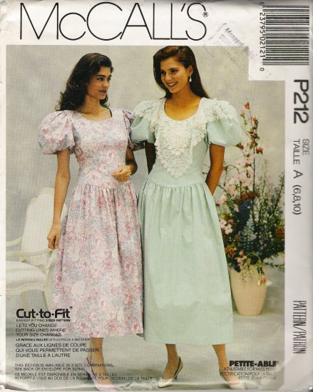 Misses' Anniversary Dress Sewing Pattern Size 6-10 McCall's 212 UNCUT