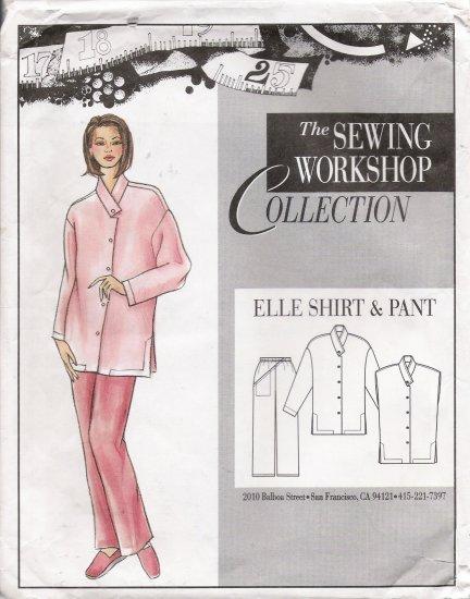 Misses' & Women's Elle Shirt & Pant Sewing Pattern Size XS-XXL The Sewing Workshop UNCUT