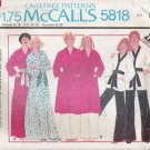 Vintage Sewing Pattern Misses' & Men's Robe Jacket Pants Size 40-42 McCall's 5818 UNCUT