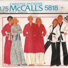 Vintage Sewing Pattern Misses' & Men's Robe Jacket Pants Size 36-38 McCall's 5818 UNCUT
