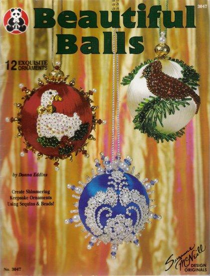 Beautiful Balls Bead & Sequin Christmas Ornaments by Design Originals