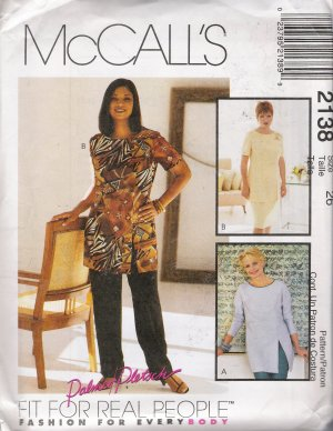 Misses' Tunic Pants Skirt Sewing Pattern Size 26 McCall's 2138 UNCUT