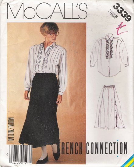 Misses' Shirt & Skirt Sewing Pattern Size 12 McCall's 3339 UNCUT