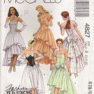 Misses' Dress, Sleeves & Hair Ornament Sewing Pattern Size 8-12 McCall's 4827 UNCUT