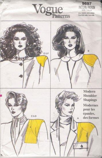 Vintage Sewing Pattern Misses' Camisole & Shoulder Pads Size S-XL Vogue 9697 UNCUT