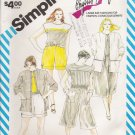 Vintage Sewing Pattern Misses' Shorts Culottes Top Jacket Size 20 Simplicity 6342 UNCUT