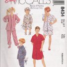 Children's, Boys' & Girls' Sleepwear Sewing Pattern Size 6-7 McCall's 8434 UNCUT