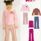 Children's Pants Vest Jacket Sewing Pattern Size 3-8 Simplicity New Look 6529 UNCUT