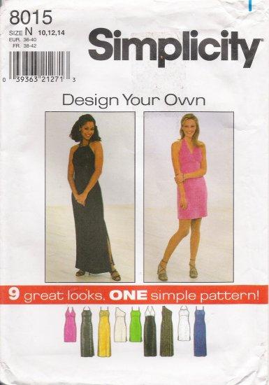 Misses' Knit Dress Sewing Pattern Size 10-14 Simplicity 8015 UNCUT