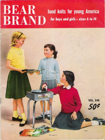 Hand Knits For Young America Vintage Knitting Pattern Book by Bear Brand