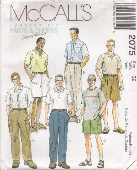 Men's Pants Shorts Sewing Pattern Size 32 McCall's 2075 UNCUT