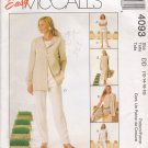 Misses' Jacket Tunic Dress Pants Sewing Pattern Size 12-18 McCall's 4093 UNCUT