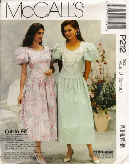 Misses' Anniversary Dress Sewing Pattern Size 12-16 McCall's 212 UNCUT