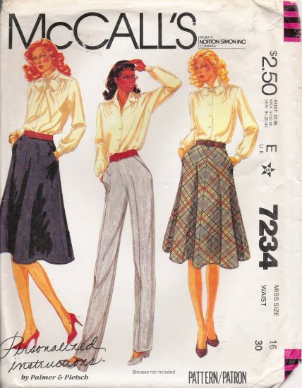 Misses' Skirt & Pants Sewing Pattern Size 16 McCall's 7234 UNCUT