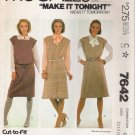 Misses' Jumpers & Belt Sewing Pattern Size 12-16 McCall's 7642 UNCUT