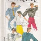 Misses' Blouse Sewing Pattern Size 10 Simplicity 7091 UNCUT