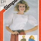Misses' Asymmetrical Blouse Sewing Pattern Size 14 Simplicity 5497 UNCUT
