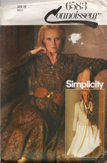 Misses' Dress & Jacket Sewing Pattern Size 12 Simplicity 6583 UNCUT