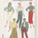Misses' Skirt Pants Culottes Sewing Pattern Size 16-20 Simplicity 7707 UNCUT