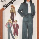 Vintage Sewing Pattern Girls' Pants Knickers Jacket Vest Size 7 Simplicity 5626 UNCUT