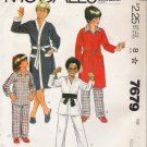 Vintage Sewing Pattern Boys' & Teen Boys' Robe Jacket Pajamas Size 8-10 McCall's 7679 UNCUT