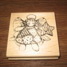 Angel Wood Mounted Rubber Stamp by Creative Impressions