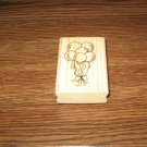 Birthday Balloons Wood Mounted Rubber Stamp