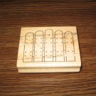 Picket Fence Wood Mounted Rubber Stamp by Azadi Earles