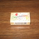 Congratulations Wood Mounted Rubber Stamp by Comotion