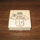 Angel Teddy Bear Wood Mounted Rubber Stamp