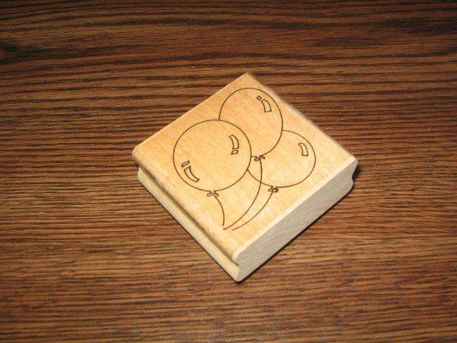 Birthday Balloons Wood Mounted Rubber Stamp by Stampendous