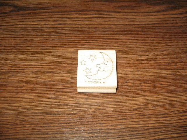 Moon Wood Mounted Rubber Stamp by Stampin Up