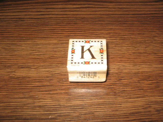Alphabet Letter K Wood Mounted Rubber Stamp by All Night Media