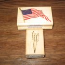 4th Of July Wood Mounted Rubber Stamps Lot Of 2