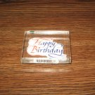 Happy Birthday Acrylic Mounted Rubber Stamp by Inkadinkado