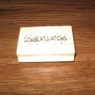 Congratulations Wood Mounted Rubber Stamp