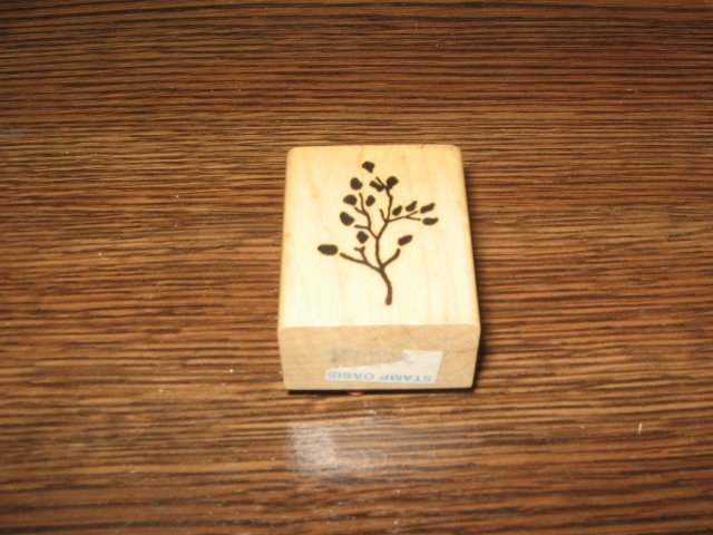 Leaf Sprig Wood Mounted Rubber Stamp by Posh Impressions
