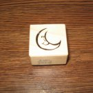 PSX Moon Wood Mounted Rubber Stamp B-2963 Retired Collectible