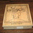 Give Me A Buzz Lady Wood Mounted Rubber Stamp by Effie Glitzfinger