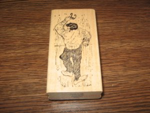 Sleeping Or Dead Man Wood Mounted Rubber Stamp by Portfolio