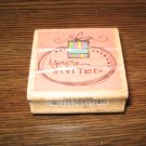 You're Invited Wood Mounted Rubber Stamp by Kolette Hall