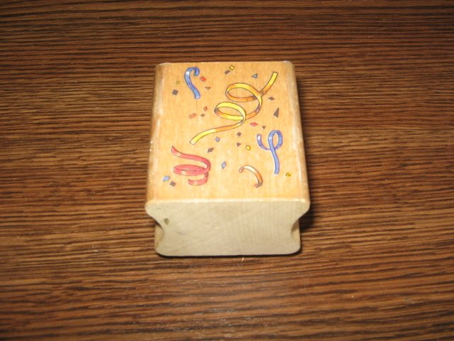 Confetti Wood Mounted Rubber Stamp by All Night Media