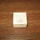 Alphabet Letter W With Baby Wood Mounted Rubber Stamp by The Paper Garden