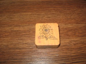 Sunflower Wood Mounted Rubber Stamp by Comotion