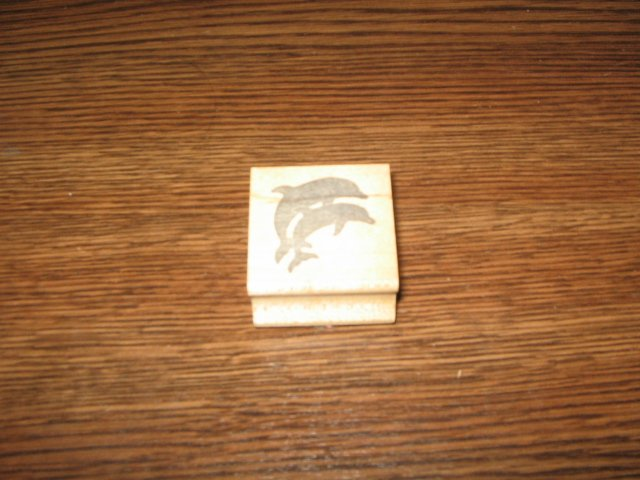 Dolphins Wood Mounted Rubber Stamp by The Stamp Pad Co.