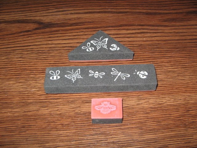 Insects Foam Mounted Rubber Stamps Lot Of 3