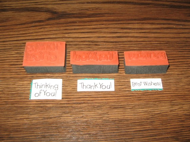 Sayings Foam Mounted Rubber Stamp Lot Of 3
