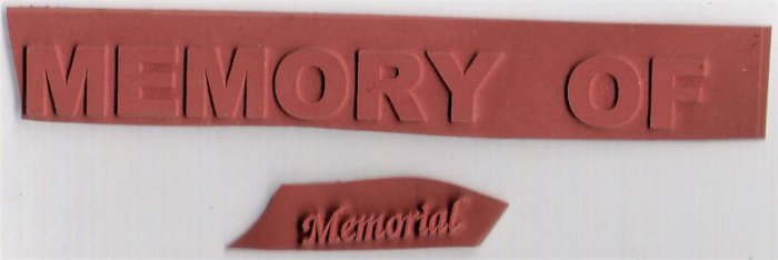 Memorial Unmounted Rubber Stamps Lot Of 2